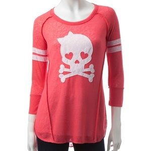 Almost Famous Skull with Bow Pint Sweater XL